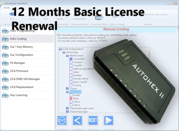 BMW_AUTOHEX_12_months_basic_license_renewal